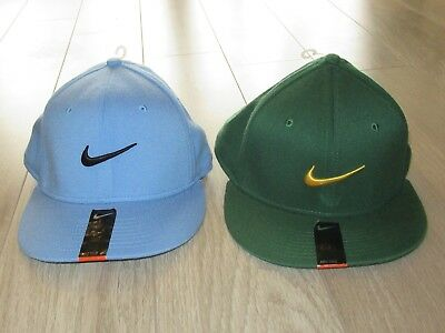 7d8189b4bf300 Nike True Swoosh Flex Mens Fitted Baseball Hat Cap Blue Green ~~Lot of 2