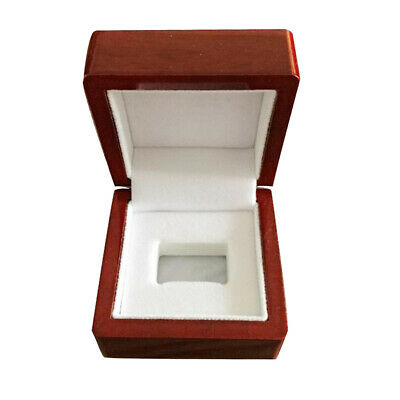 Mini Wine Red 65x65x50mm Wooden Box Single Hole Championship Ring Collection