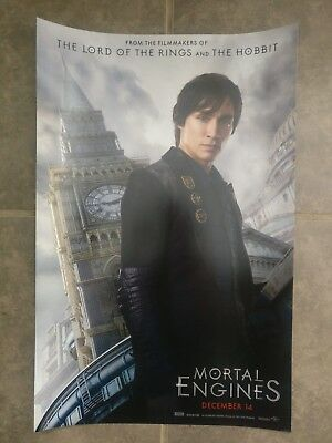 NYCC SDCC 2018 Mortal Engines Movie Poster 11x17 Tom Natsworthy Robert Sheehan