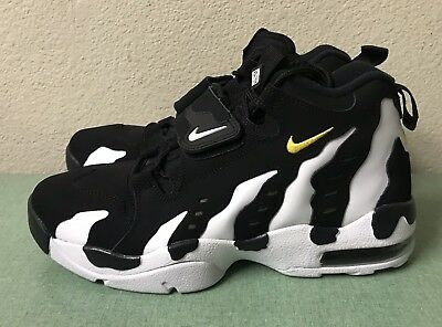 13d05376f4 Nike Air DT Max 96 White Black Gold Mens Sz 10 Diamond Turf Deion Trainers  NEW