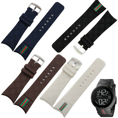 d11bb00cd25 New 26mm Rubber replacement Watch Strap Band For I-Gucci Digital Men s Watch