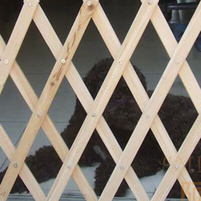 New Expanding Fence Wooden House Safety Gate For Puppy Dog Pet Cat Practical
