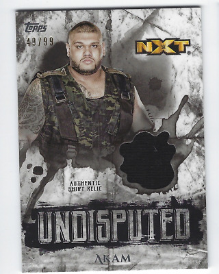 Akam 2018 Topps Wwe Undisputed Authentic Shirt Relic /99