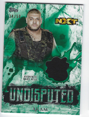 Akam 2018 Topps Wwe Undisputed Authentic Shirt Relic Green /50