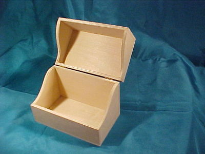 Unfinished Wood Recipe Card Box with Hinged Lid for Arts Crafts Beech Wood Box