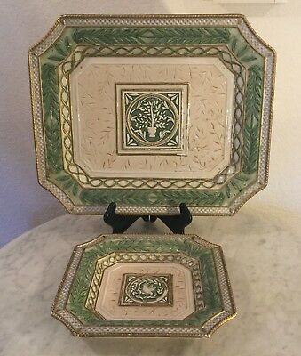 """Fitz & Floyd Gregorian Collection 16"""" Serving Platter&Canapé Plate. Doves. Disc."""