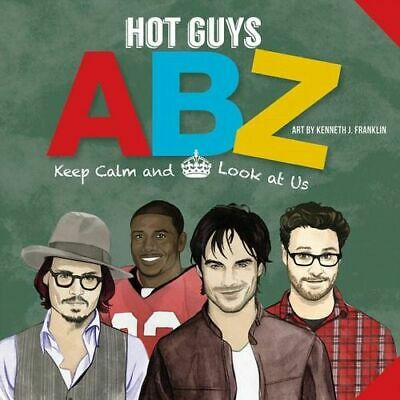 NEW Hot Guys ABZ By punchline Board Book Free Shipping