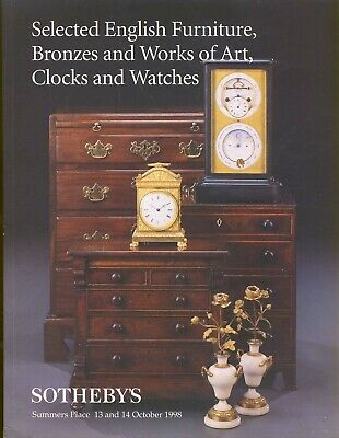 SOTHEBY'S Furniture, Bronzes, Art, Clocks, Watches auction catalogue r1-22