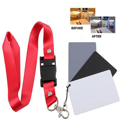 1 18% Photography Studio Balance Card Neck Strap Digital Color Gray White Black