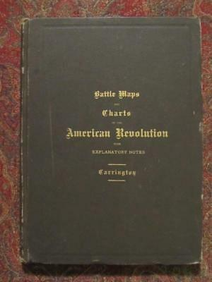 Signed - Revolutionary War Battle Maps And Charts - First Edition Signed 1881
