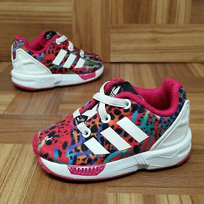 bd4d5a12d Adidas ZX Flux EL (Toddler Girls Size 4K) Athletic Sneakers Pink White Print
