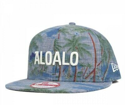 9bd41a8171d14 NEW ERA × ONSPOTZ Collaboration 9FIFTY Snapback Cap Adjustable BLUE ALOHA  Navy