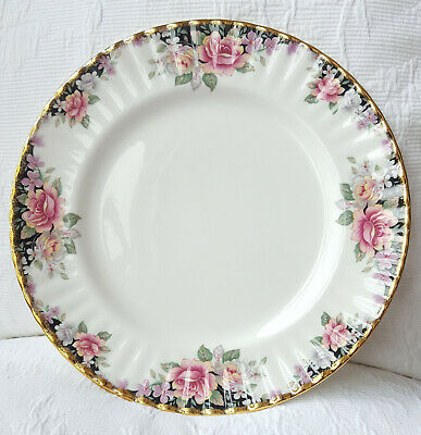 """ROYAL ALBERT 'Concerto' china dinner plate 10.25"""" vintage English fluted"""