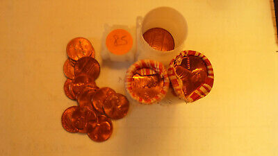 Three Uncirculated rolls of 1985-P Lincoln Memorial Cents.