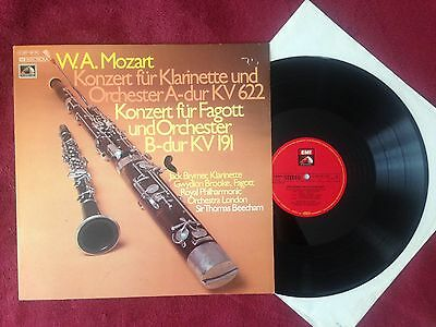 Q304 Mozart Concerto for Clarinet and Bassoon Brooke Brymer EMI Electrola Stereo