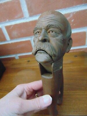 Antique Black Forest Figural Nutcracker Otto Von Bismark