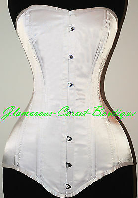 Long Corset Steel Boned Overbust Bridal Wedding Shaper XS-3XL