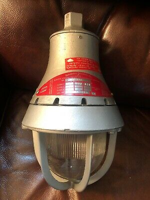 Vtg Crouse Hinds Eva 230 Globe Explosion Proof Sconce Light Fixture Steampunk Ceiling Fixtures Lamps, Lighting