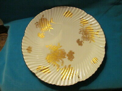Hammersley Bone China, England, Golden Cornflower Charger Plate - Vgc