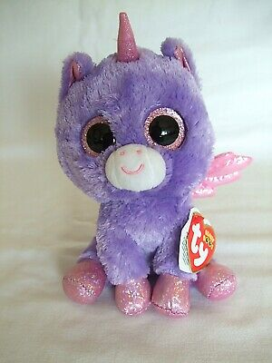 Rare Ty Beanie Boos/Boo Athena Approx 5'' / 15cms Claire's Exclusive