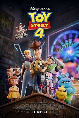 TOY STORY 4 Original D/S Theatrical Movie Poster 27x40 Disney Pixar Promo Hanks