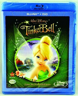 Walt Disney's Tinker Bell 2 Disc Combo Pack Blu-ray DVD Enter The World of Fairi
