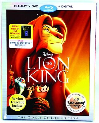 Disney's The Lion King Blu-ray w/ DVD & Digital Copy 3 in 1 Signature Collection