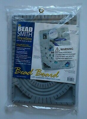 "The Bead Smith Travelers Bead Board w/ Transparent Cover 9.75"" x 13.25"" NEW"