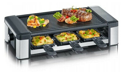 SEVERIN RG 2676 raclette grill 6 person(s) Black,Stainless steel 850 W