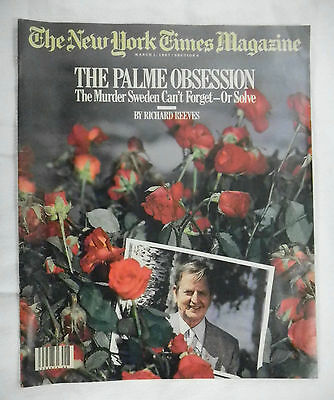 The New York Times MAGAZINE supplement March 1, 1987 Dowd Safire