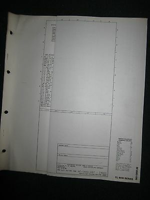 1986 ford cl-9000 electric wiring diagram manual schematic sheets cl9000 oem