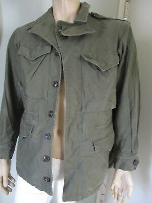 VINTAGE WWII M1943 FIELD Jacket Men DATED 1944 Military WW2 US Army Coat 34R