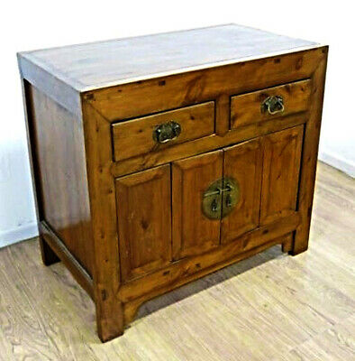 Large Elmwood Chinese 2 Door Cabinet Dresser Server Sideboard Buffet Asian