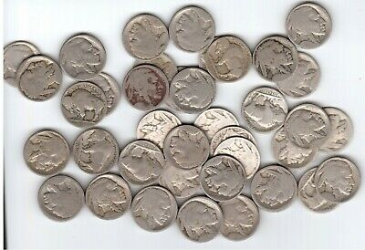 Average Circulated Dateless /& Cull Buffalo Nickels and Indian Cents Lot