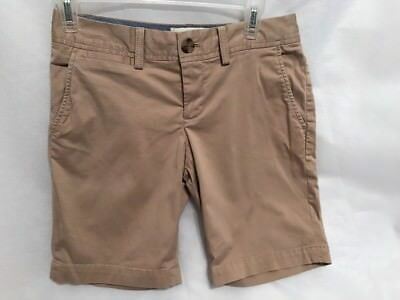ff99da8240 Banana Republic Bermuda Stretch Shorts Womens Size 2P Petite Khaki Chino