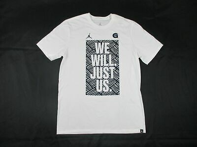 NEW Jordan Georgetown Hoyas - White Poly Short Sleeve Shirt (Multiple Sizes)