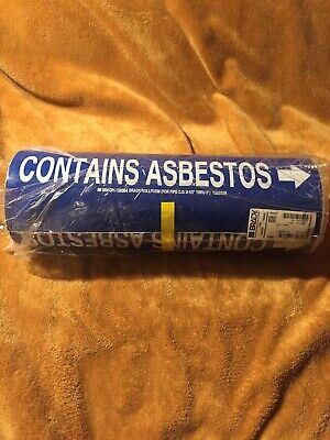 """Contains Asbestos"" Brady's Pipe Marker #108864 Roll 12""x 30ft."