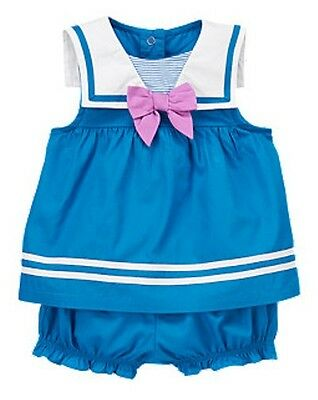 Gymboree Hippos and Bows Sailor Two-Piece Set Baby Girls 6-12 months NEW NWT