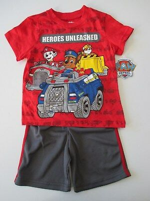 Nickelodeon Paw Patrol Heroes Unleashed Shorts T-Shirt Outfit Set