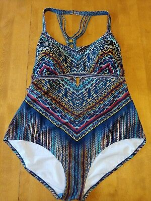 b052d63d48 Jessica Simpson Peri Multi Dusty Road Macrame 1 Piece Swimsuit Plus Size 3X  NWT