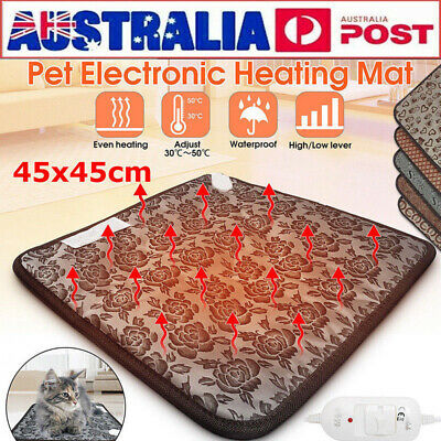 Electric Heat Heating Mat Pet Dog Cat Puppy Thermal Cushion Pad Waterproof 220V