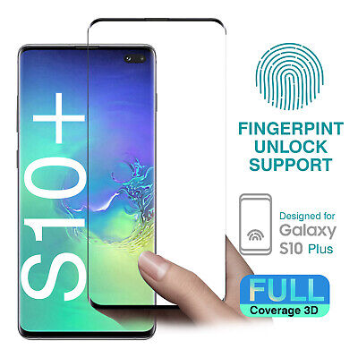 3D Full coverage Tempered Glass Screen Protector for Samsung Galaxy S10 Plus