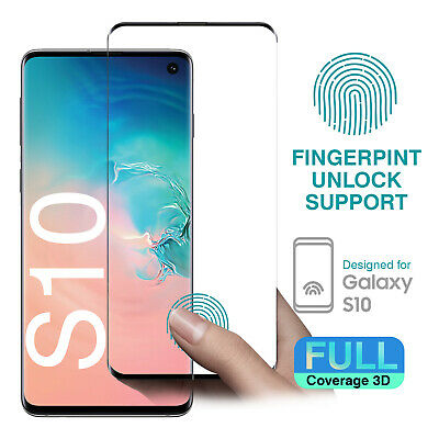 3D Full coverage Tempered Glass Screen Protector for Samsung Galaxy S10