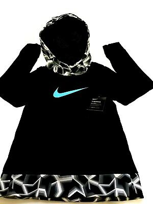 Nike New Girls Pullover Hoodie Thermal Dri-fit Black Blue Gray SIZE S  M