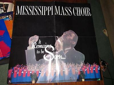 Mississippi Mass Choir It Remains To Be Seen 24 X 24 Promotional Poster
