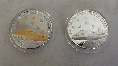 2 -The Spirit of Columbia February 1 2003 1 troy oz .999 Silver Round Coin