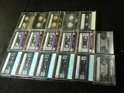 Lot of 17 Maxell, Denon, TDK Metal Audio Cassette Tapes  MX-60, MX-90, 100 min.