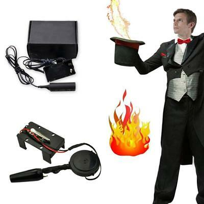 Electronic 9V Fire Ball Launcher Magic Trickps Accessories Stage Illusions