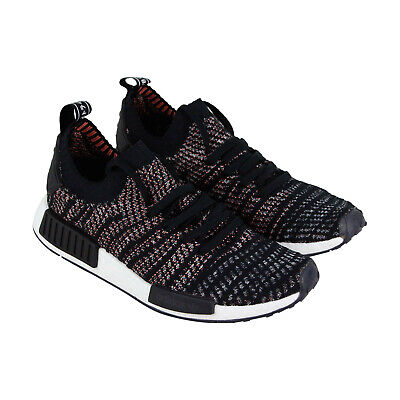 1829001443901 Adidas Nmd R1 Stlt Pk Mens Black Textile Low Top Lace Up Sneakers Shoes