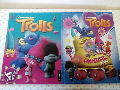 2x trolls annual 2017 & 2018 by egmont books like new condition